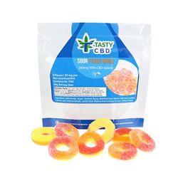 Tasty CBD Sour Peach Rings (280mg CBD)