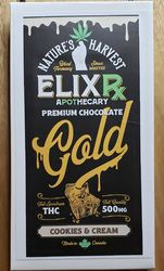 Nature's harvest Elixr 500mg  Cookies and Cream premiums chocolate bar