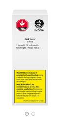 INDIVA - Jack Herer Pre Roll 2 PACK - 2x0.5g Sativa