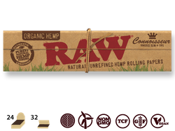 Raw Classic Hemp Papers CONNOISSEUR King Size Slim