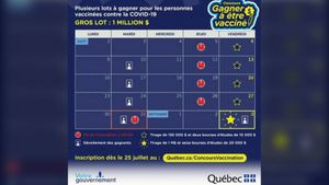 More than half a million Quebecers registered for the vaccine lottery since Sunday