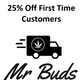 Mr. buds                                        Free Delivery logo